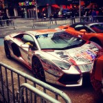 #throwbackthursday #tbt before the crowds gathered… #gumballrally2012 #gumball #rally #2012 #gumballrally #lambo #Lamborghini #aventador #bull…