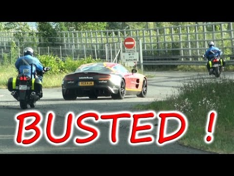 Aston Martin One-77 BUSTED BY POLICE! Gumball 3000 2011