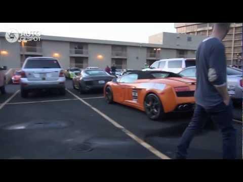 Gumball 2012 Part 21. Walk around Kansas City Gumball Parking