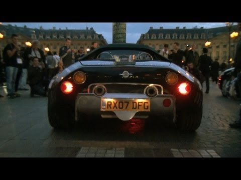 Gumball 3000 2011: Arrivals in Paris! Lots of revs and sounds!!
