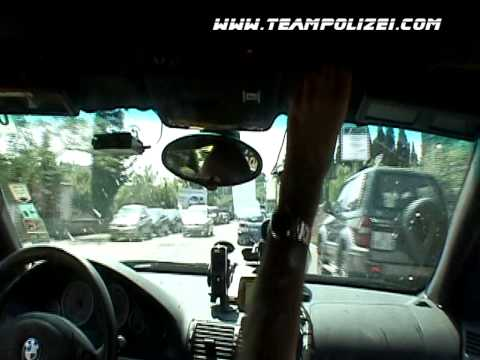 Team Polizei's Infamous 2005 Gumball 3000 Rally Florence Polizia Escort Video