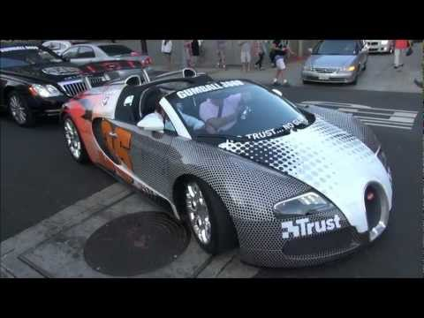 Bugatti Veyron Grand Sport Arriving in LA! Gumball 3000 2012 – Team Trust