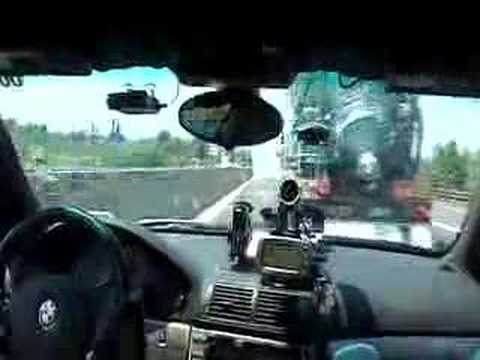 Team Polizei's 2005 Gumball 3000 Rally BMW M5 vs. Gas Truck