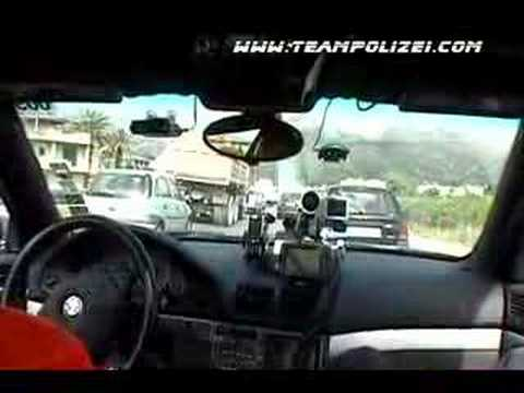 Team Polizei's 2005 Gumball 3000 Rally Aston Martin Bypass!