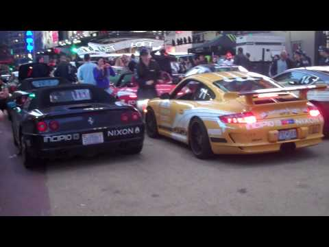 (HD) GUMBALL 3000 2010 FINISH LINE NYC (Part 2)