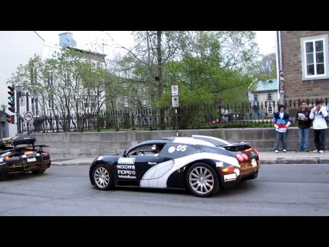 Gumball 3000 Quebec City (2010)THE VEYRON !!!!!!