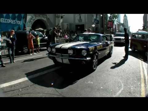 Gumball 3000 Start Line on Hollywood Boulevard 2008 10th Anniversarry