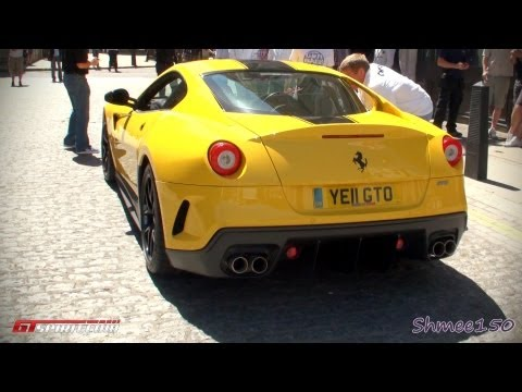 Yellow Ferrari 599 GTO Revs – Gumball 3000 2011
