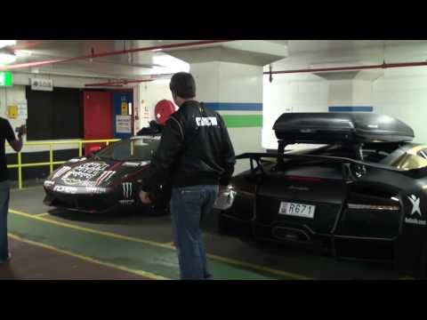 Gumball 3000 2010 Garage Tour; Enzo F50 F40 LP670-SV SLR Veyron