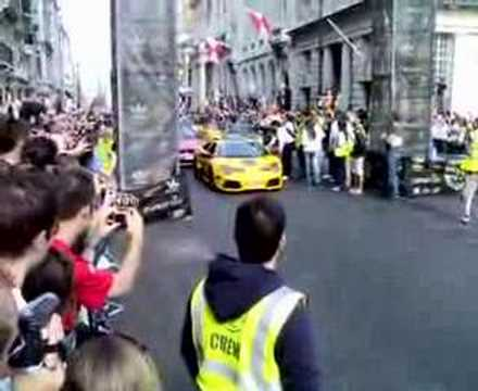 Team Polizei start in London 2007 + Murcielago
