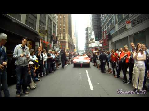 Gumball 3000 2012 New York Crossing Start Line