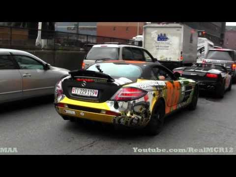 Gumball 3000 2012 – Leaving NYC – Lamborghini Gallardo – SLR