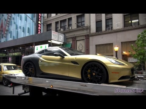 Gumball 3000 2012: Gold/Matte Black Ferrari California