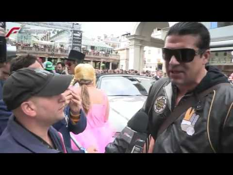 Tamer Hassan @ the Gumball 3000 start line (2011) www.keepvid.com