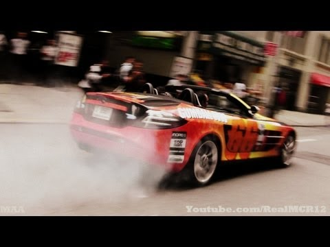Gumball 3000 2012 Mercedes SLR Mclaren Burnout In NYC