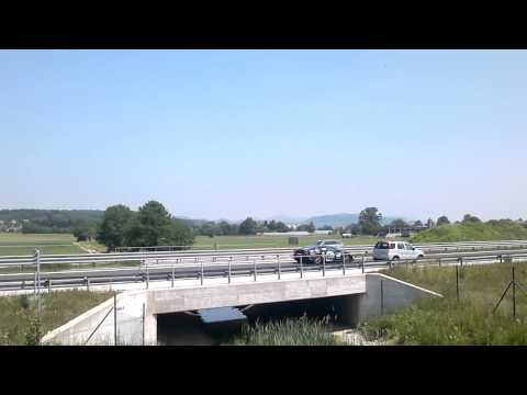 Gumball 3000 2011 on slovenia highway 1