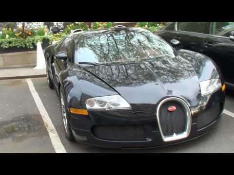 BLACK BUGATTI VEYRON IN LONDON DOING GUMBALL 3000!!