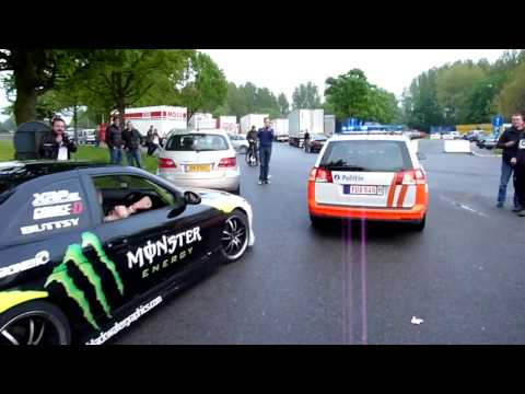 HD-CarClips: Gumball 3000: Toyota Soarer burnout with police