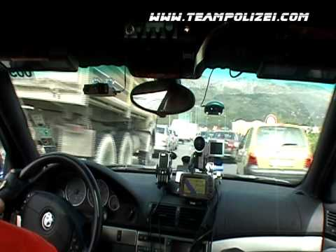 Team Polizei's 2005 Gumball 3000 Rally Aston Martin Traffic Stop & Pass Video