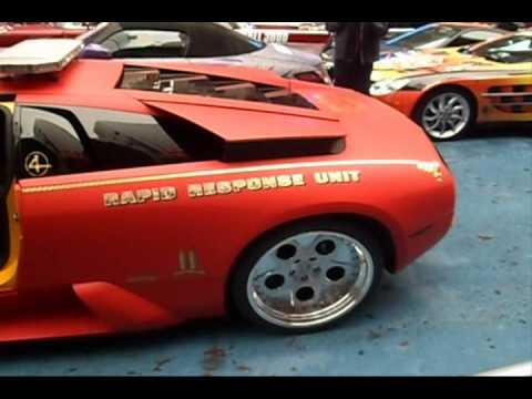 Gumball 3000 2012 Matte Red Lamborghini Murcielago (REVS)