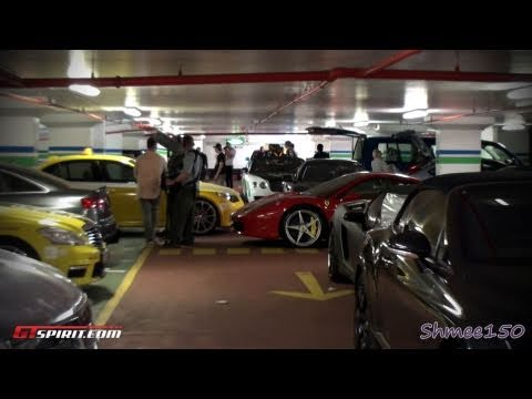 Gumball 3000 2011 Garage Tour; One-77, Veyron, 599GTO x2, LP670-4SV and more!