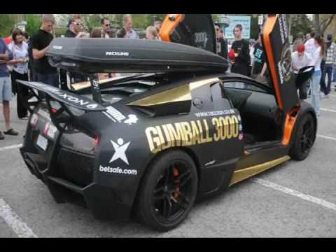 Gumball 3000 2010: Lamborghini Murcielago LP670-SV Revs and drives away