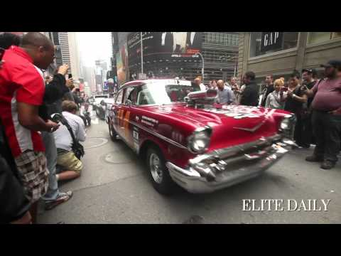 Gumball 3000 Shuts Down Times Square 2012