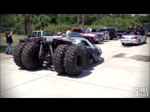 Gumball 3000 Batman Tumbler from Team Galag – First moving shots!