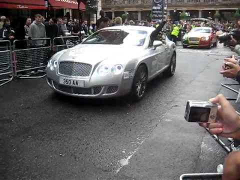 Gumball Rally 2011 Action With 6 X Bentley GT/GTC