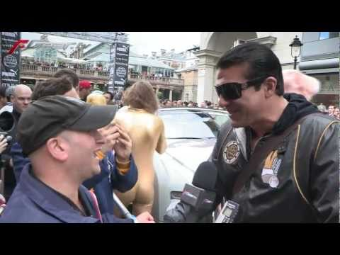 Tamer Hassan @ the Gumball 3000 start line (2011)
