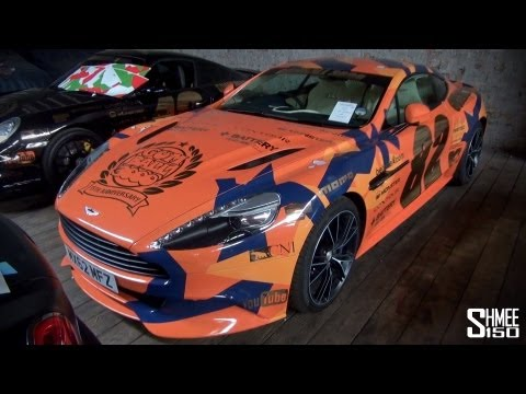 Gumball 3000 2013: Team 82 Aston Martin Vanquish – Orange Camo
