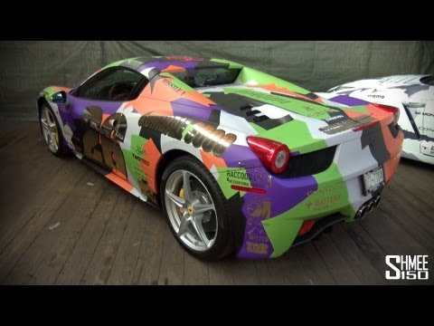 Gumball 3000 2013: Ferrari 458 Spider Team 26 – Multi-colour Camo