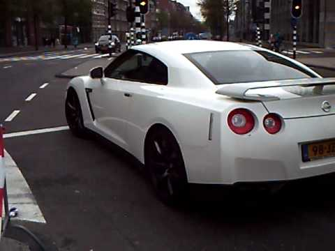 Nissan GT-R in Amsterdam ( Waterlooplein) at Gumball 3000
