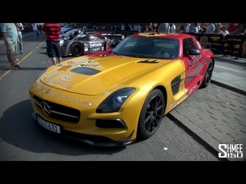 Gumball 3000 2013: German Coast Guard Mercedes SLS Black Series