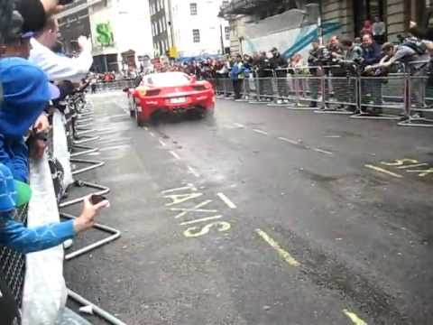 Gumball Rally 2011 With Awesome Ferrari 458 Italia And F430 Burnout