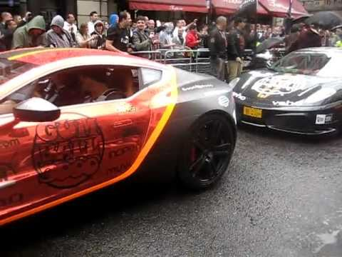 Gumball Rally 2011 Action With Some Awesome Noise Inc Aston Martin One-77