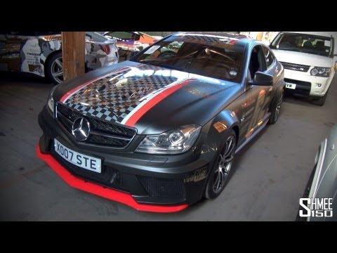 Gumball 3000 2013: Mercedes C63 Black Series Team 64 – Chequered Racing Stripe