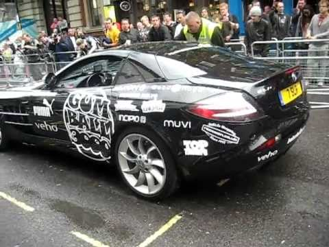 Gumball Rally 2011 Action In London Including Black SLR And A SLR 722S Roadster