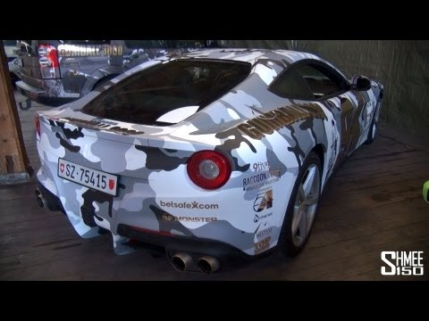 Gumball 3000 2013: Ferrari F12 Berlinetta Team 94 – Snow Camo