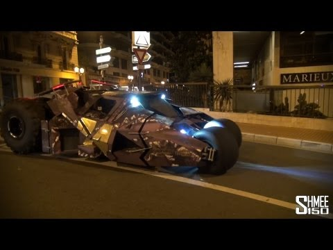 Batmobile Tumbler Driving in Monaco – Team Galag Gumball 3000 2013