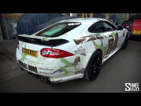 Gumball 3000 2013: Team 84 Jaguar XKRS – White and Green Camo