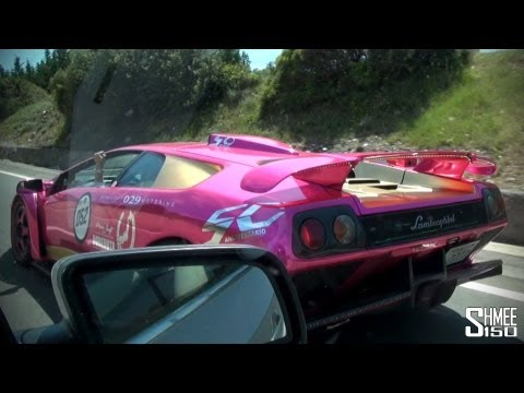 BARBIE Lamborghini Diablo GT – Flybys, Convoy, Crazy Driving