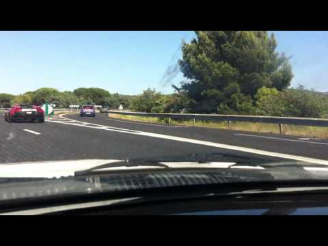 Toyota Supra Racing a Lambo LP640 – Gumball 3000