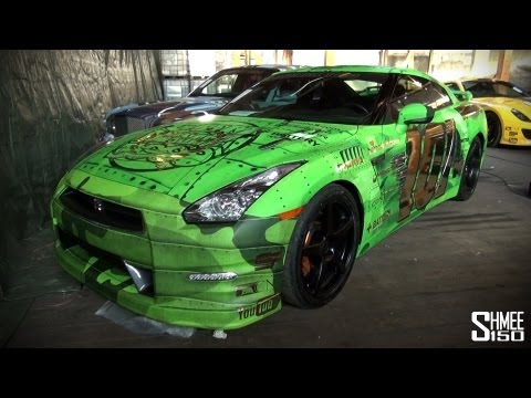 Gumball 3000 2013: Team Wolfpack Nissan GT-R – Green Fighter Jet
