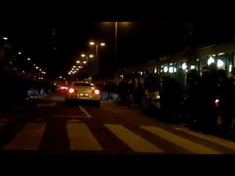 HD – 430 Scuderia, Mustang GT, Nissan GT-R Accelerating @ Gumball 3000 Amsterdam 01-05-2010
