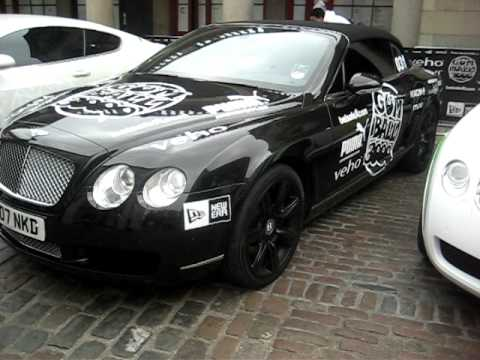 Gumball Rally 2011 With Six Parked Bentley GT/GTC