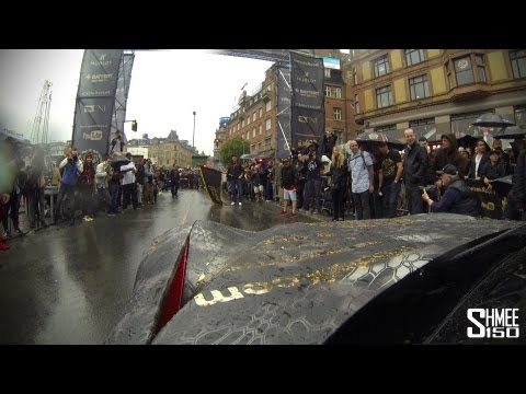 Driving the Gumball 3000 Start Line – House Cartu Ferrari F12 Berlinetta