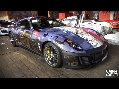 Gumball 3000 2013: Team 50 Ferrari 599 GTO – Switzerland/UK/France Flags