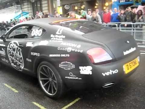 Gumball Rally 2011 Rolls Royce Phantom Conquistador By Mansory And Matte Black Bentley GT In Action