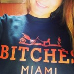 That sold out black BITCHÈS Miami sweater… @sam_morel in France.. Still available in white at BRCSC.bigcartel.com